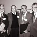 James Jenkins, Harrison Gough, John Holland, and Paul Meehl. Photo by Dianna Watters, http://cla.umn.edu/news/clatoday/winter2001-02/words_images.php