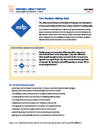 MBTI® Step I™ Personal Impact Report (Form M) - Reported Type