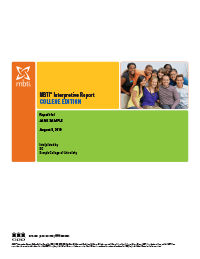 MBTI® Interpretive Report, College Edition (Form M)