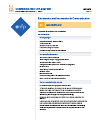 MBTI® Step I™ Communication Style Report  (Form M)